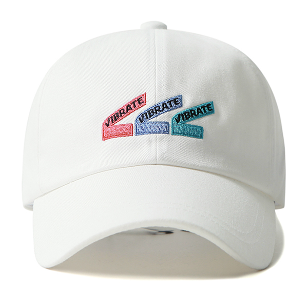VIBRATE - TRIPLE V BALL CAP (white)