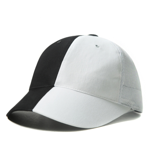 VLACK VIBE - MESH COLOR INVERSION BALL CAP (black&white)