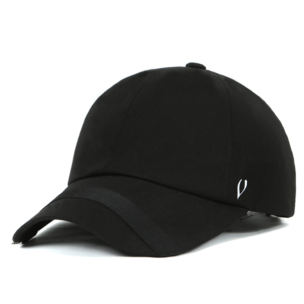 BLACK LINE - LOOP WEBBING & D RING BALL CAP (BLACK)