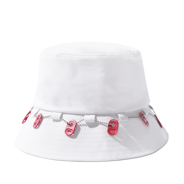 VIBRATE X BUDWEISER - CAN END CHAIN BUCKET HAT (WHITE)