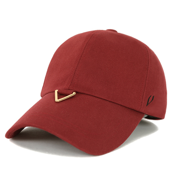 BLACK LINE - GOLD TRIANGLE VISOR BALL CAP (WINE)