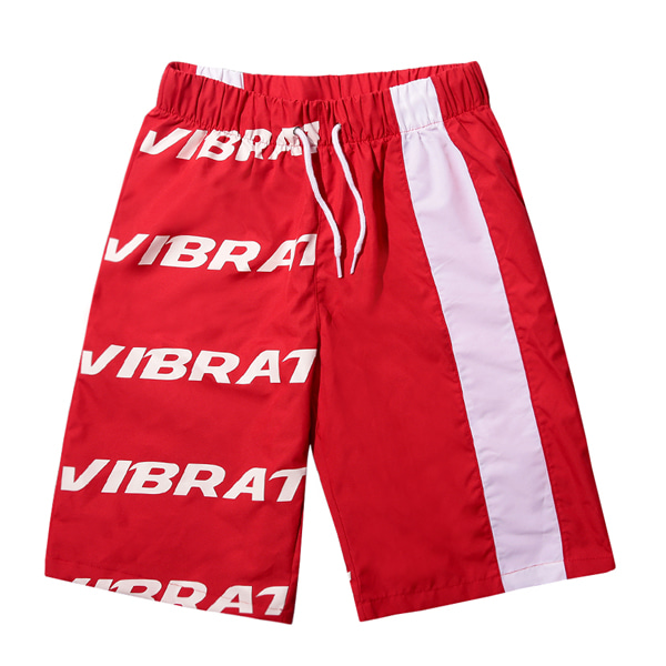 VIBRATE - BASIC LOGO SWIM WEAR PANTS (RED)