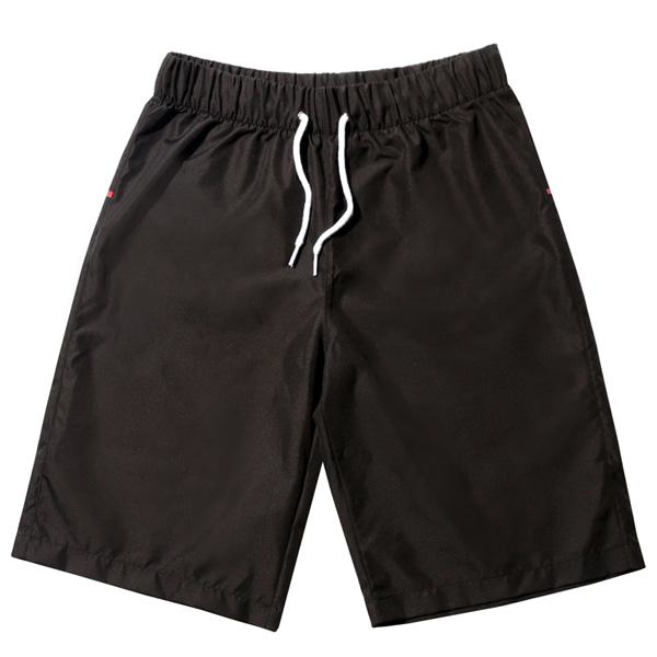 VIBRATE - RED CROSSLINE SWIM WEAR PANTS (BLACK)