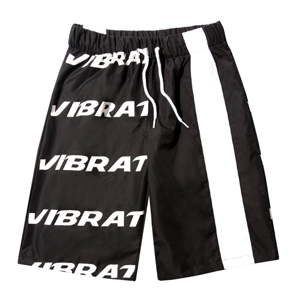 VIBRATE - BASIC LOGO SWIM WEAR PANTS (BLACK)