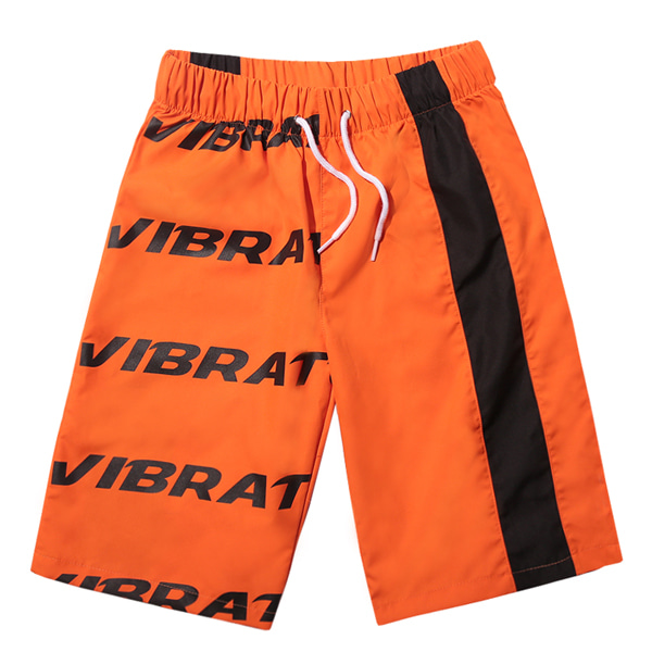 VIBRATE - BASIC LOGO SWIM WEAR PANTS (ORANGE)