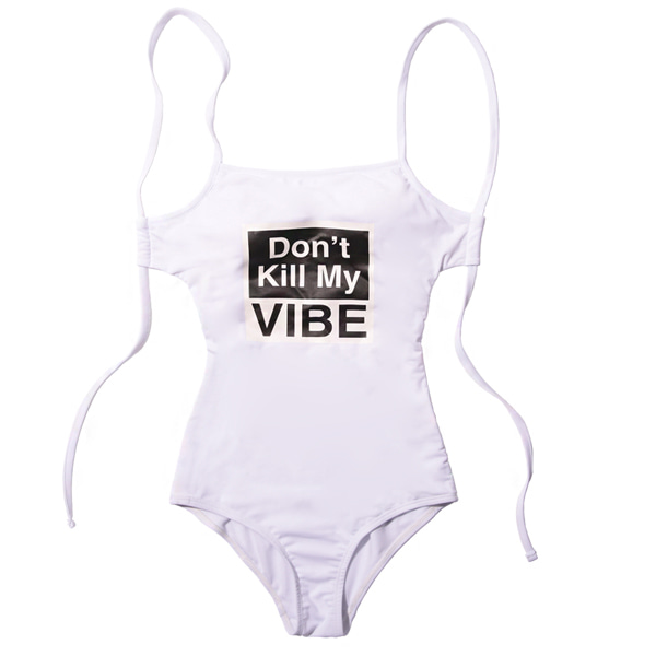 VIBRATE - D.K.M.V SWIM SUIT (woman) (WHITE)