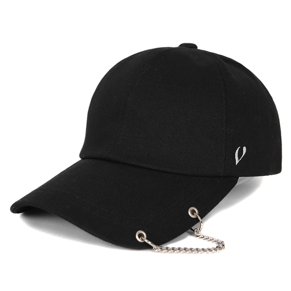BLACK LINE - BASIC CHAIN BALL CAP (BLACK)