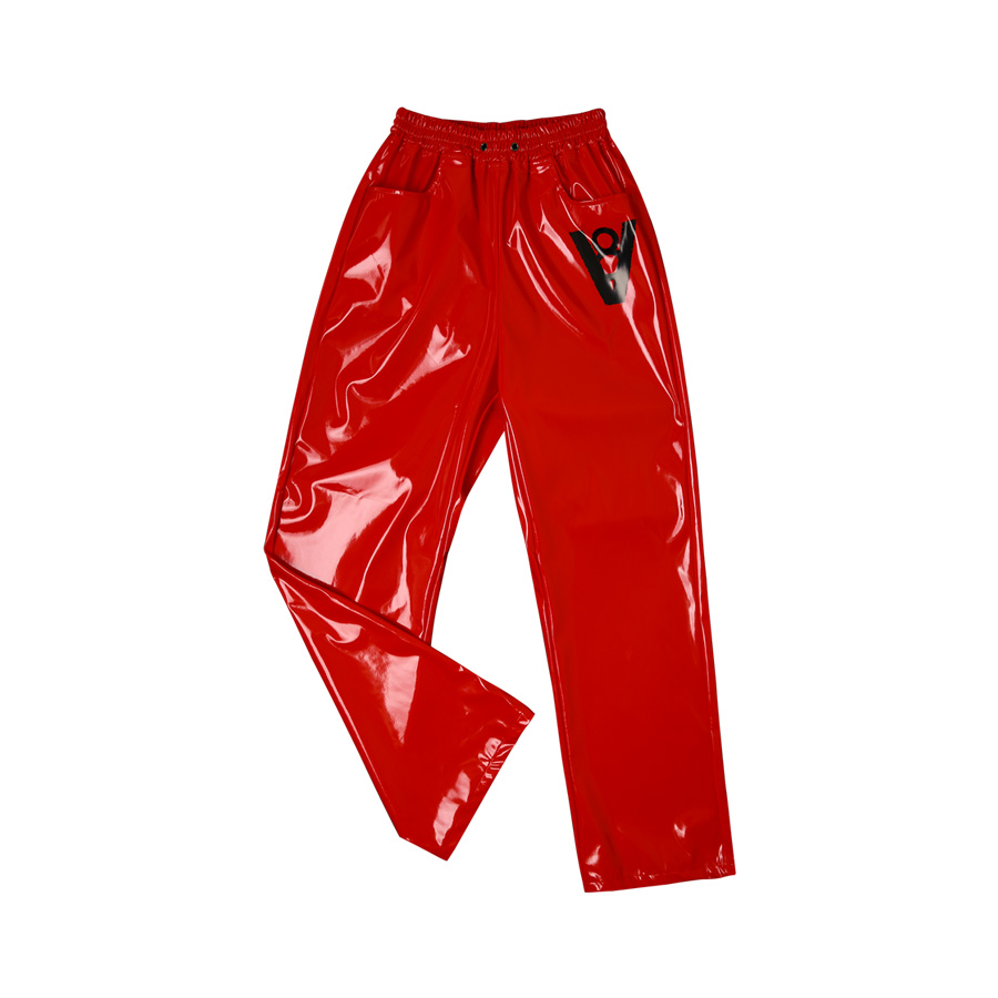 V8 - GLOSS ENAMEL PANTS (RED)