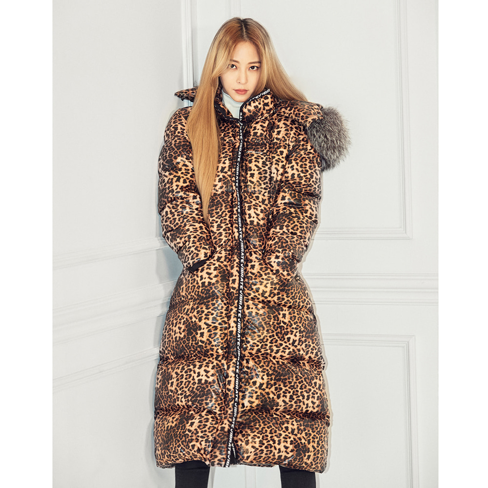 VIBRATE - EXPEDITION LEOPARD LONG DUCKDOWN JACKET