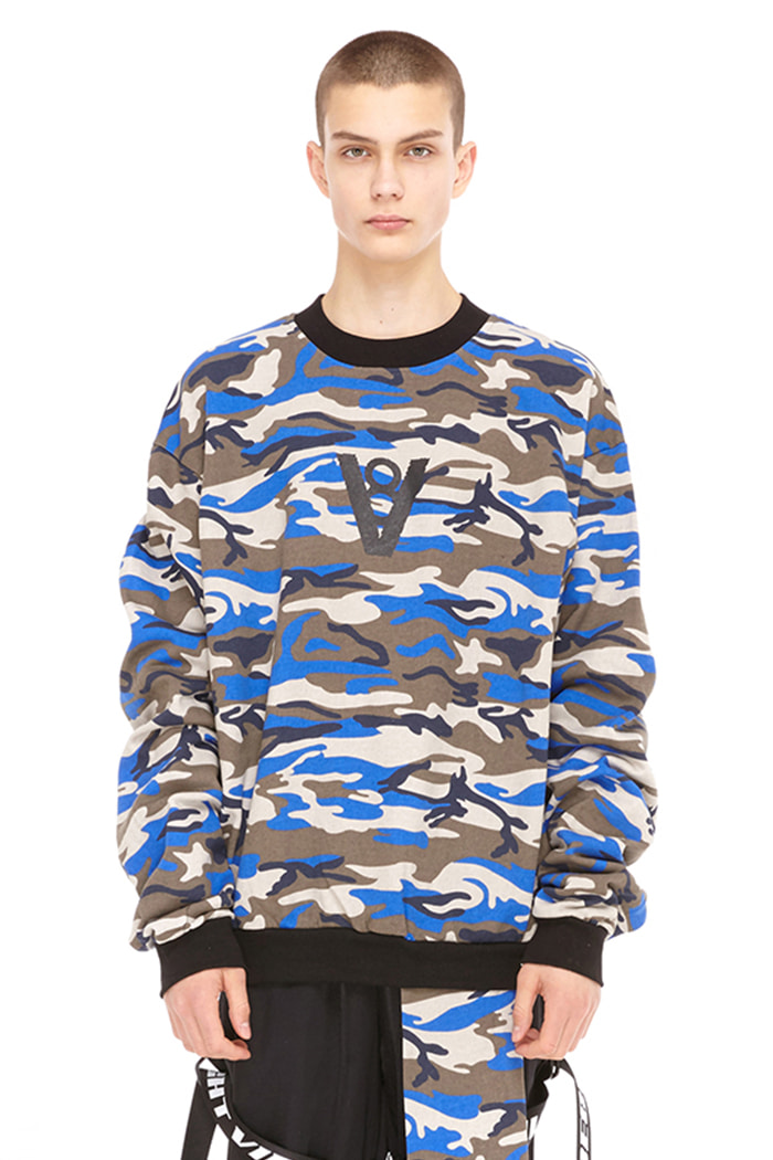 SYMBOL LOGO PATCH SWEAT SHIRT (CAMO)