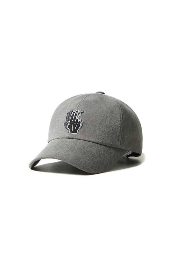 VINTAGE COTTON FINGER BALL CAP (GRAY)