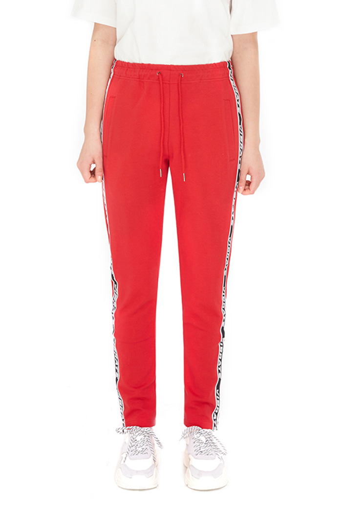 SIDE ZIPPER TAPING PANTS (RED)