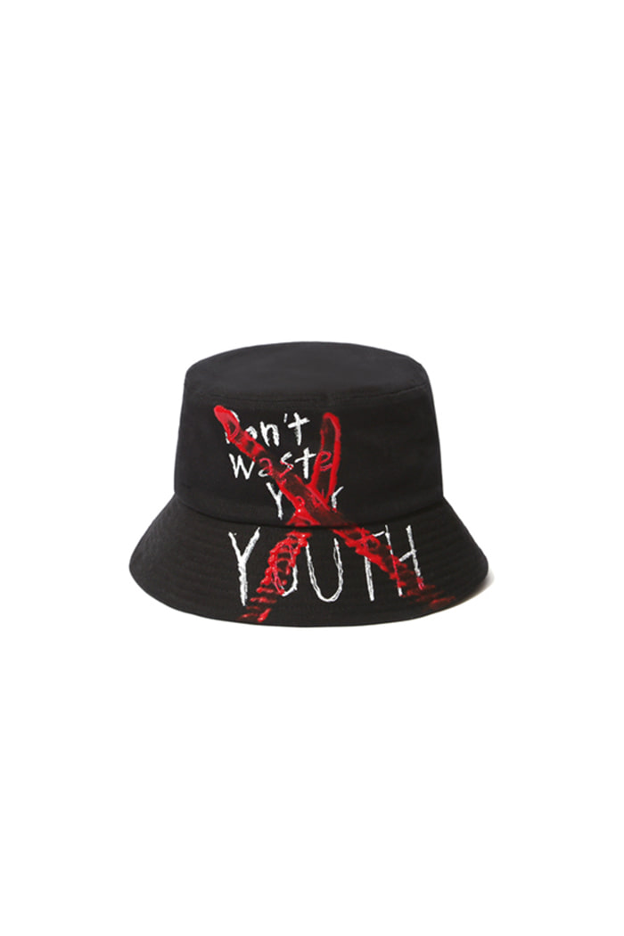 OVERDOSE GRAFFITI BUCKET HAT (BLACK)