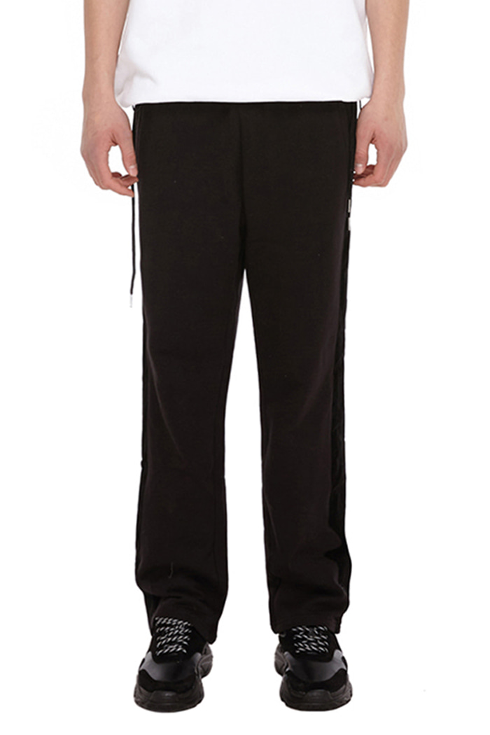 SIDE LINE DOUBLE STRING PANTS (BLACK)