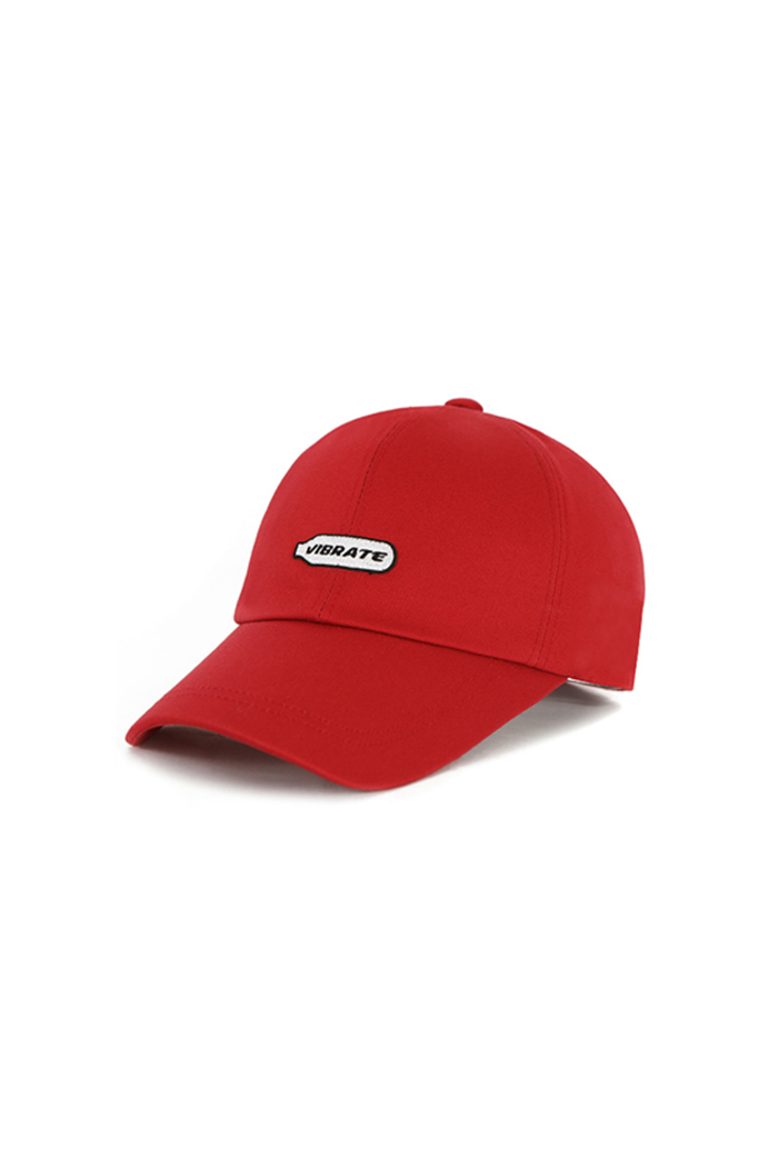 HAPPY PATCH BALL CAP (RED)
