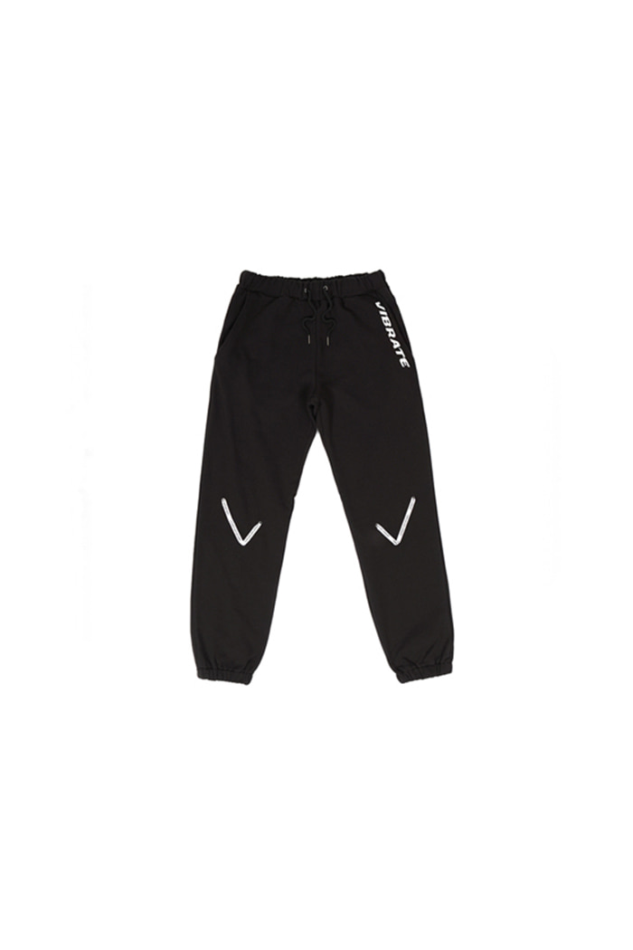 V TAPE JOGGER PANTS (BLACK)