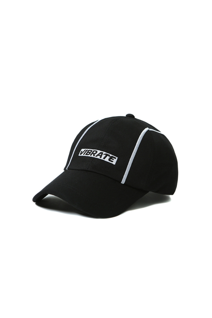 VERTICAL LINE BALL CAP (BLACK)