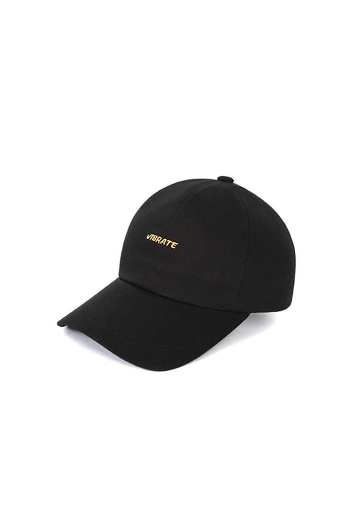 GOLD EMBROIDERY BALL CAP (BLACK)
