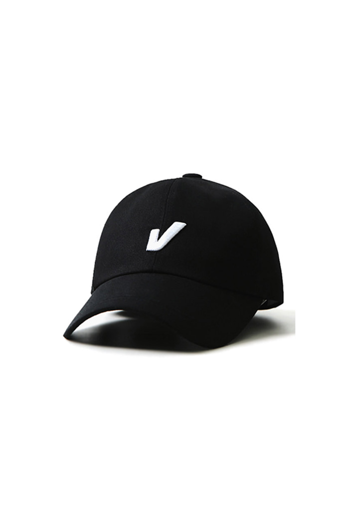HUGE V ON TOP BALL CAP (BLACK)