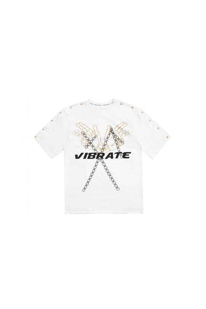 GOLDLINE SNAP BUTTON T-SHIRT (WHITE)