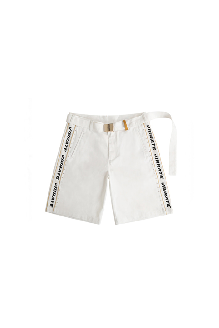 BELT DETAIL SHORT PANTS (WHITE)