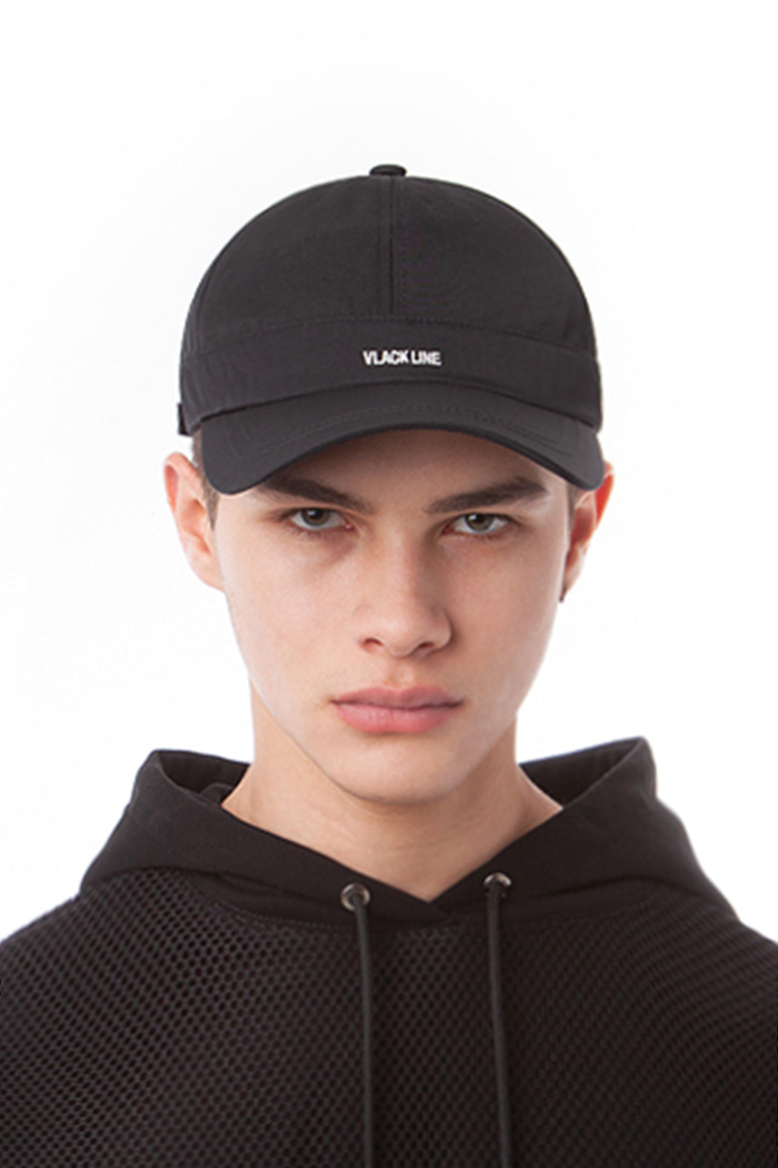 BASIC LOGO BALL CAP (BLACK)