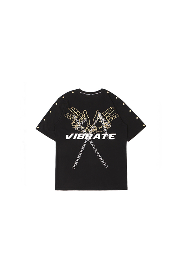 GOLDLINE SNAP BUTTON T-SHIRT (BLACK)