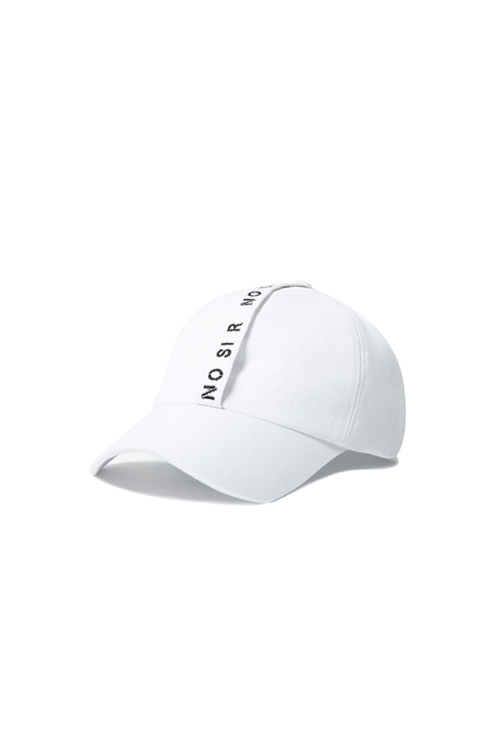 NO SI R LONG STRAP BALL CAP (WHITE)