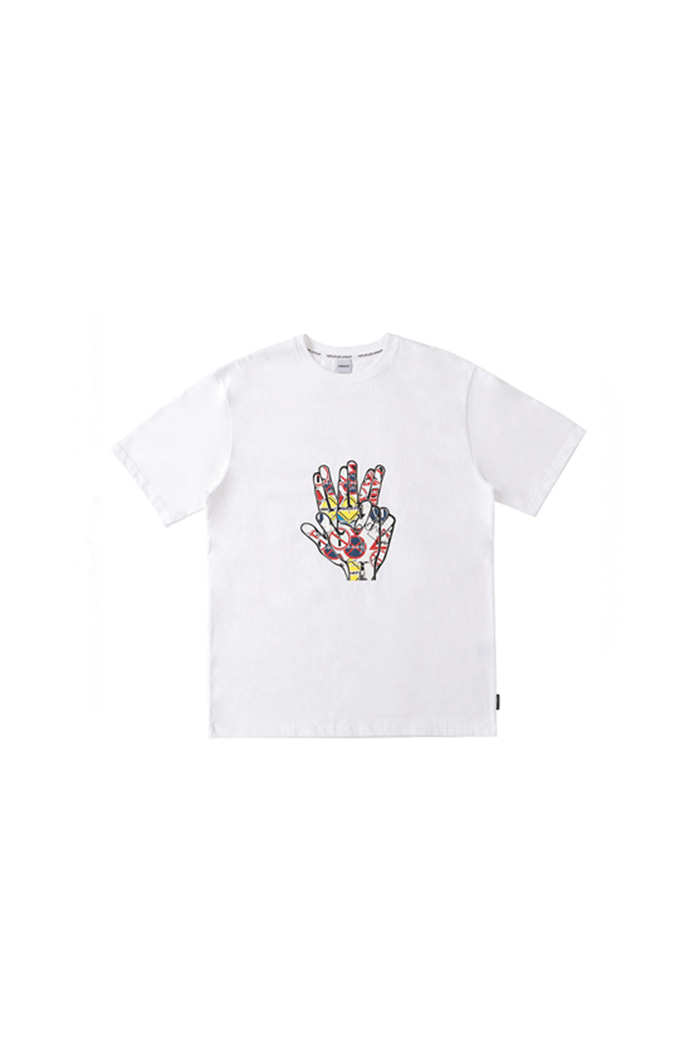 TRAFFIC HAND SIGN T-SHIRT (WHITE)