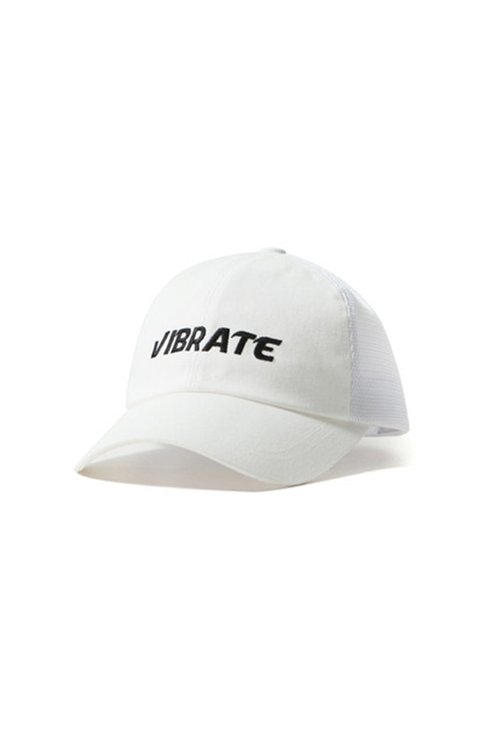 MESH SIGNATURE BALL CAP (WHITE)