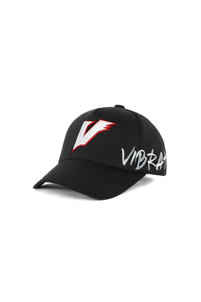 FLAME V ATHLEISURE BALL CAP (BLACK)