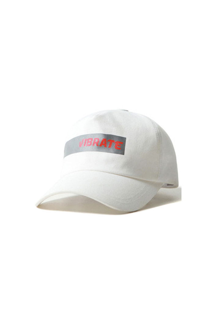 TAPE LOGO 5 PANEL BALL CAP (WHITE)