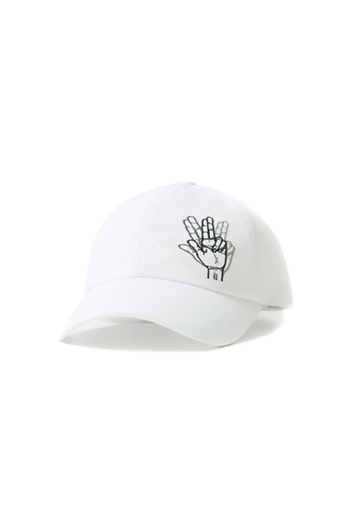 REMOTE HAND LOGO BALL CAP (WHITE)