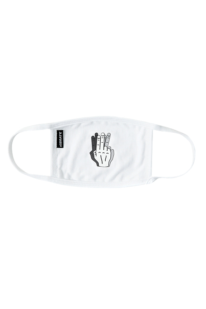 HANDSHAKE FILLED MASK (WHITE)