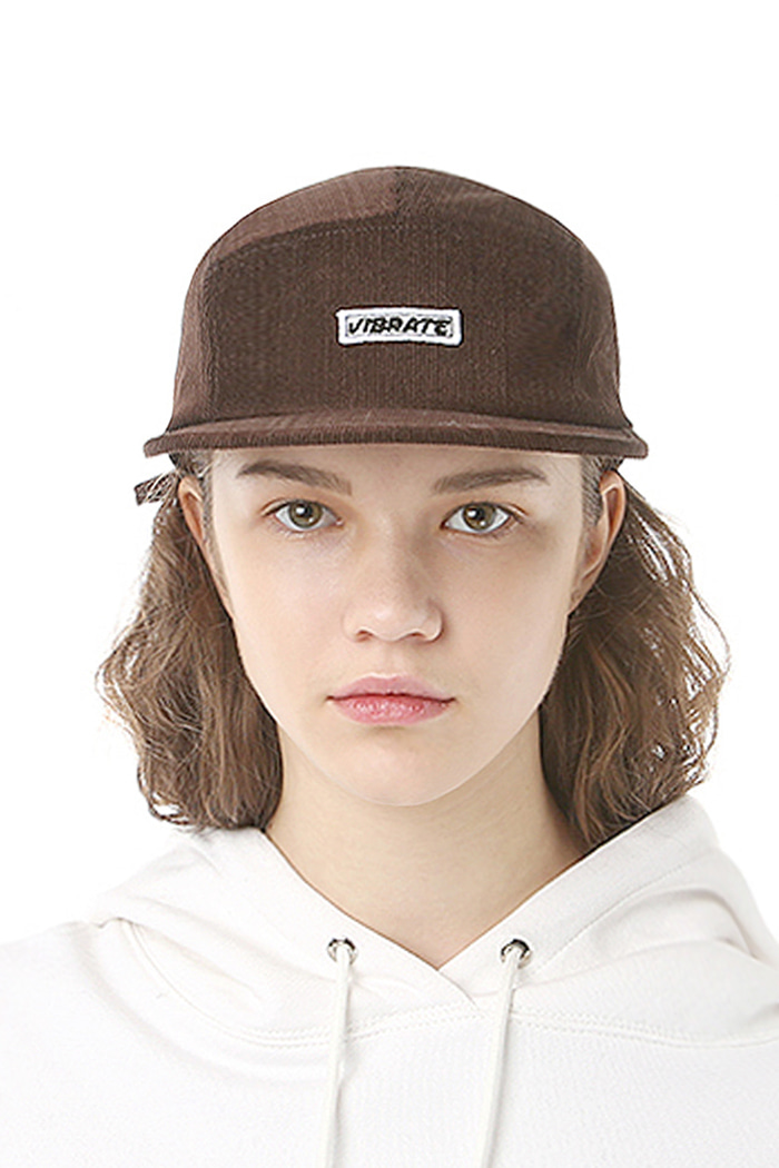 BOX LOGO CORDUROY CAMP CAP (BROWN)