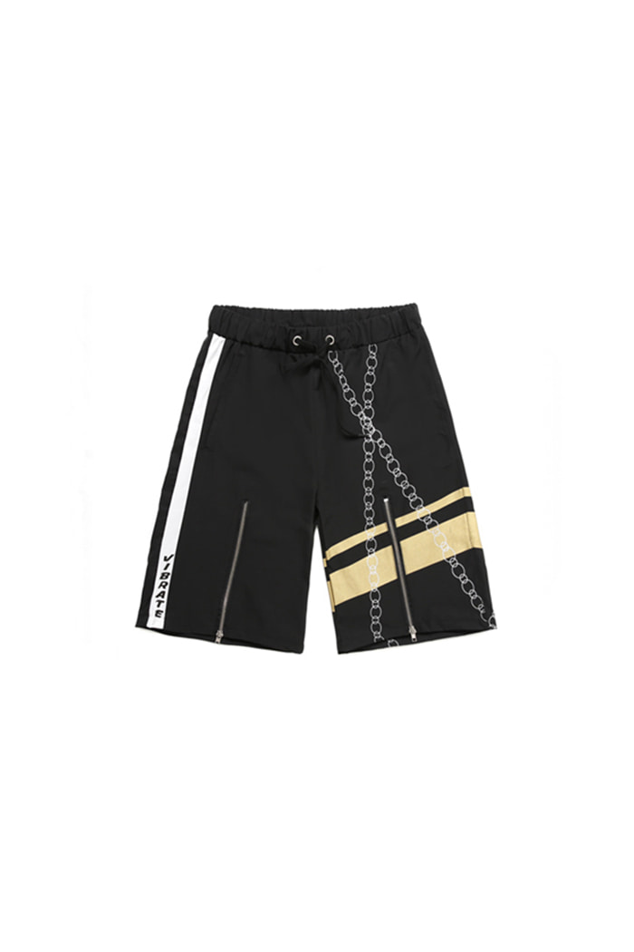 POINT CHAIN SHORT PANTS (BLACK)