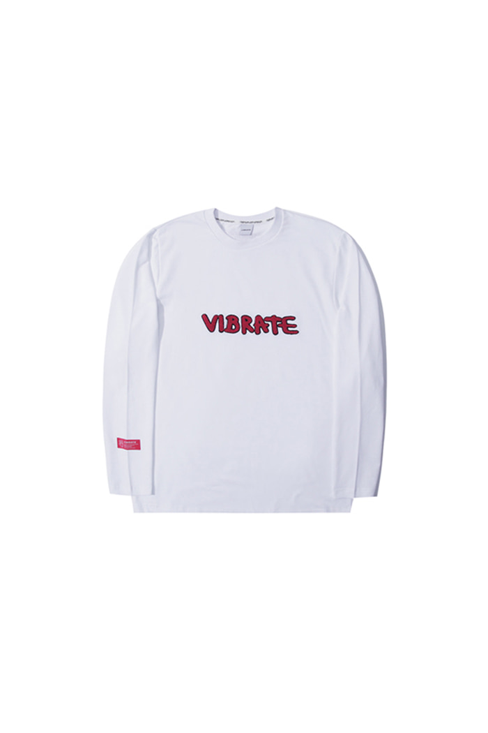 LETTERING EMBROIDERY LONG SLEEVE (WHITE)