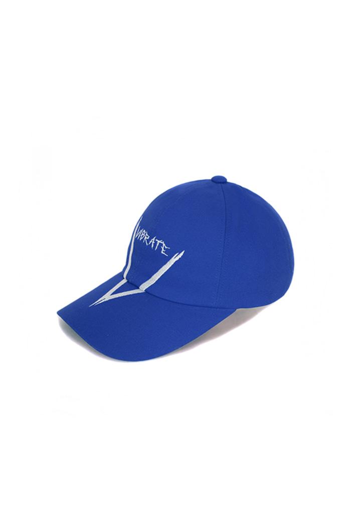 V GRAFFITI LOGO BALL CAP (BLUE)