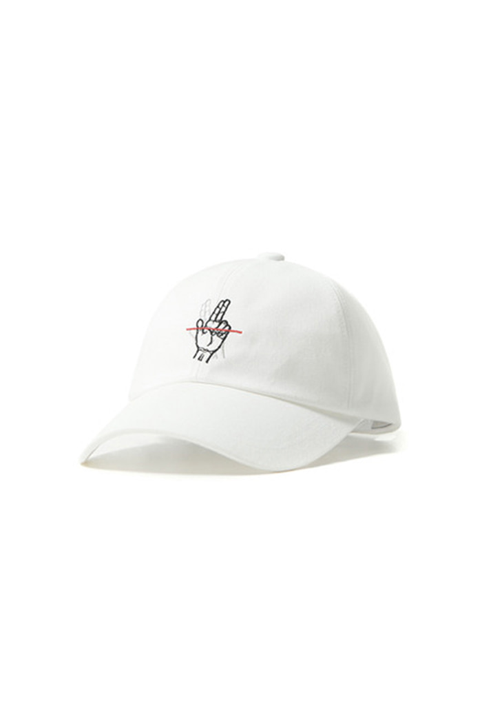 RED LINE BALL CAP (WHITE)