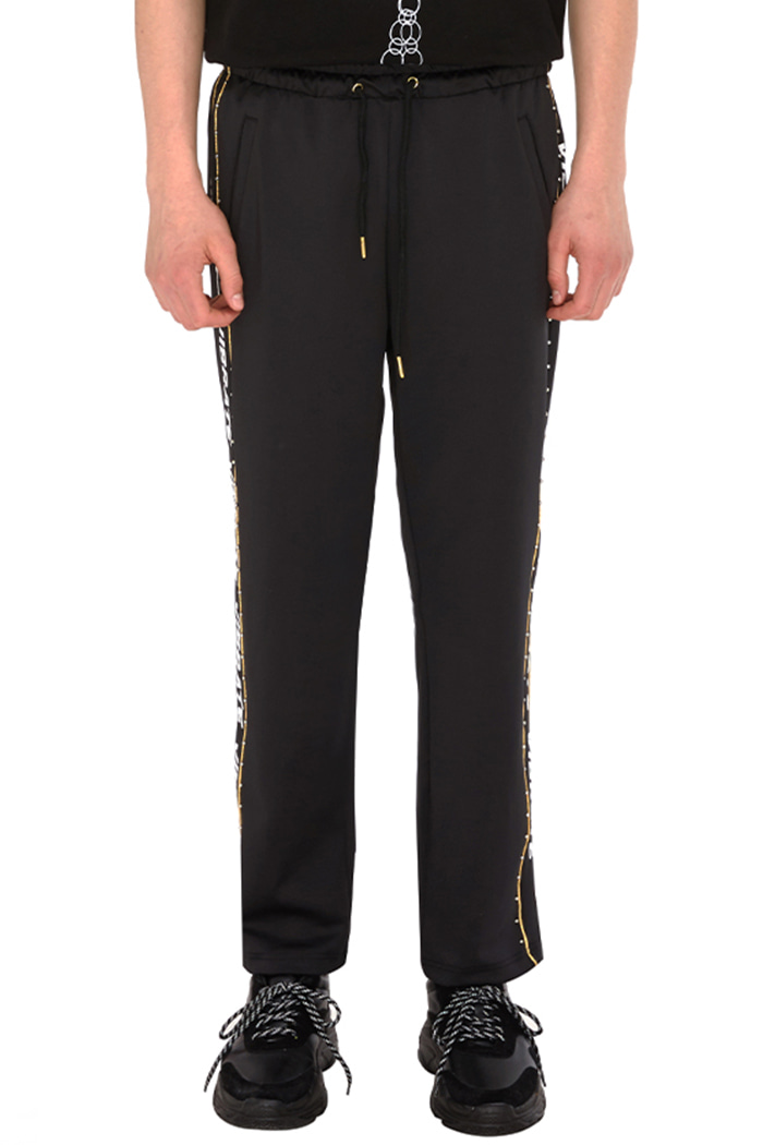 GOLDLINE SIDE LOGO PANTS (BLACK)