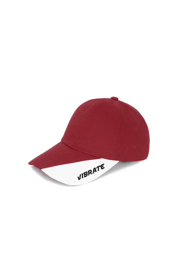 TWO TONE BALL CAP (WINE&WHITE)