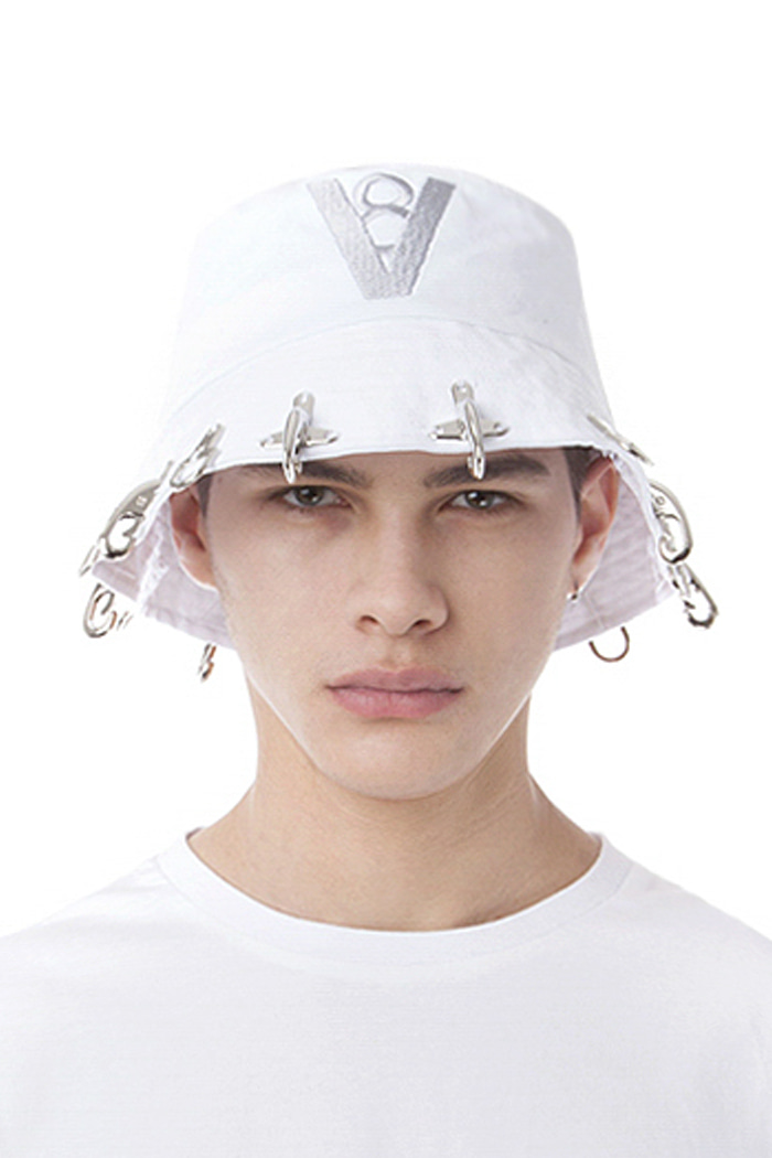 FIREFIGHTING HOOK BUCKET HAT NO.2 (WHITE)