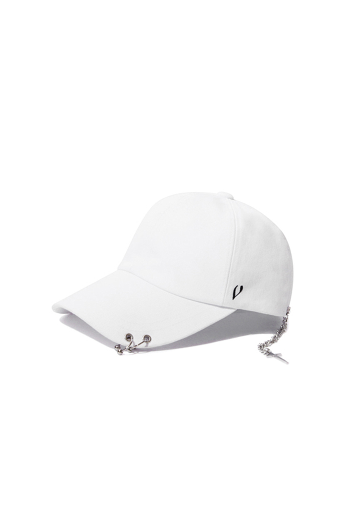 SILVER CROSS BALL CAP (WHITE)
