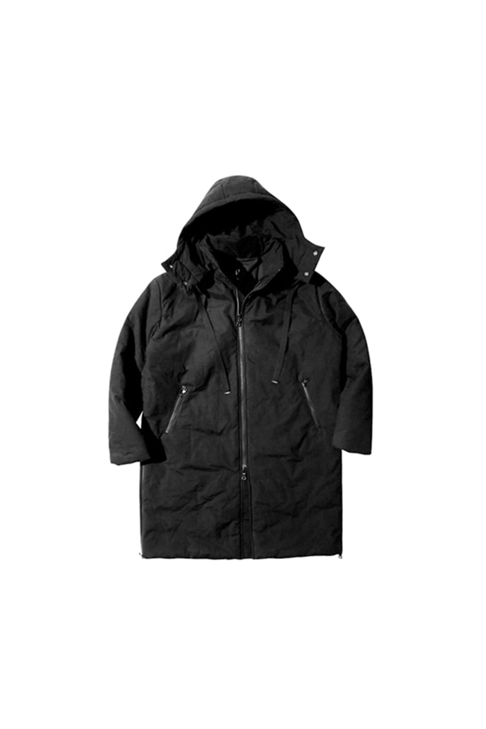 HEAVY SHELL PADDED LONG JACKET (BLACK)
