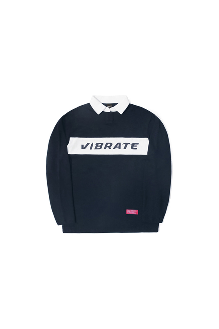 BOTTLE LOGO POLO SHIRT (NAVY)