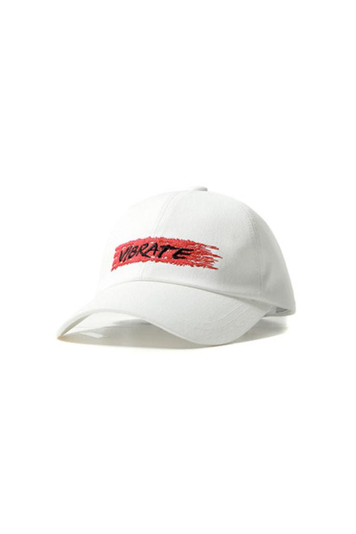 78803951 BIT BY BIT BALL CAP (WHITE) - vibrate