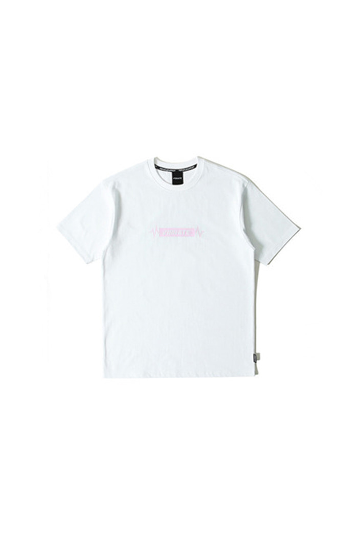 PULSATION PINK T-SHIRT (WHITE)