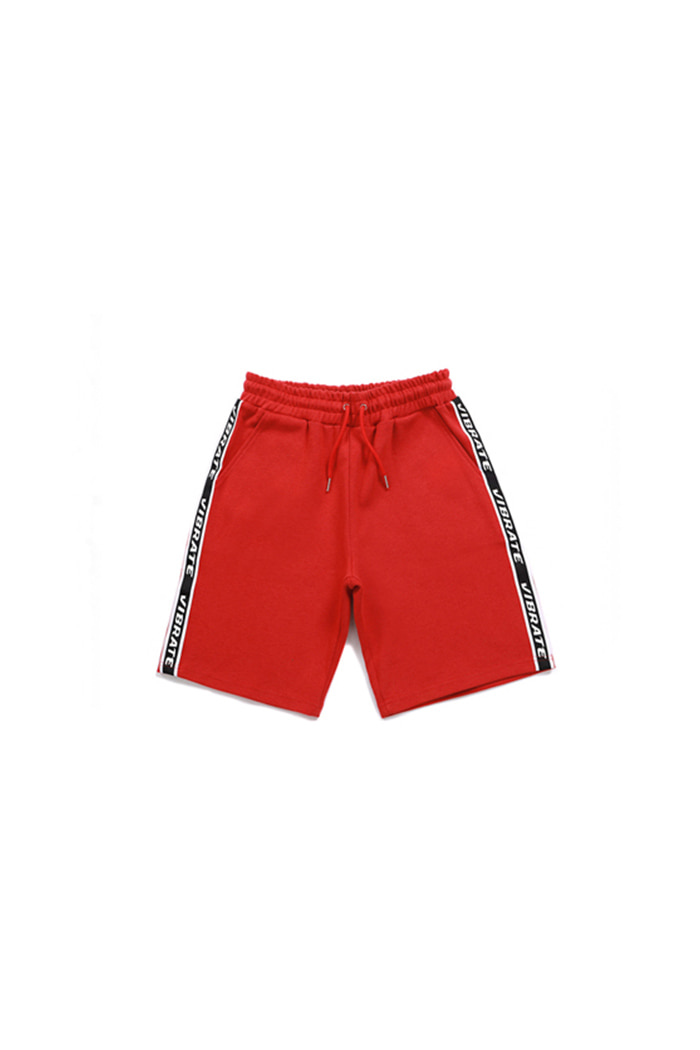 BASIC LOGO WEBBING TAPE SHORT PANTS (RED)