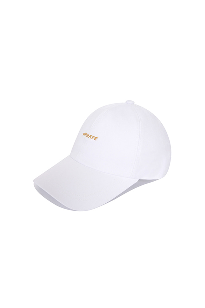 GOLD EMBROIDERY BALL CAP (WHITE)