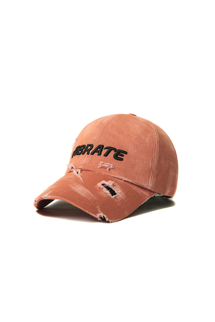 SIGNATURE DAMAGE BALL CAP (ORANGE)
